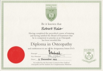 Diploma Osteopathy