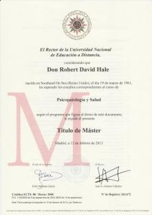Masters Health Psychology