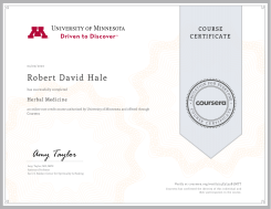 Minnesota Univ - Herbal Medicine Certificate