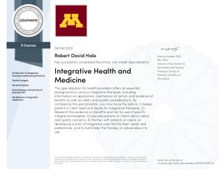 Coursera - Integrative Medicine